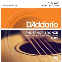 Cuerdas Acustica DADDARIO EJ-15 Phosphos Bronze (10-47) Foto: C:QuerryFotos Web\Cuerdas Acustica DADDARIO EJ15