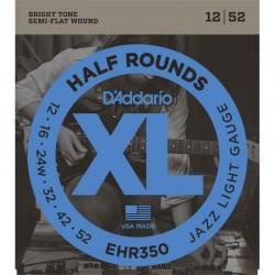 Cuerdas Electrica DADDARIO EHR350 Half Rounds Jazz Light (12-52) Foto: C:QuerryFotos Web\Cuerdas Electrica DADDARIO EHR350 Half