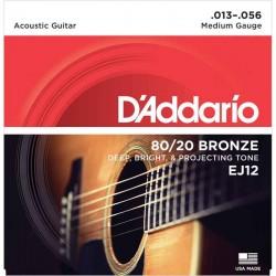 Cuerdas Acustica DADDARIO EJ-12 Bronze (13-56) Foto: C:QuerryFotos Web\Cuerdas Acustica DADDARIO EJ-12 Bronze 13-56