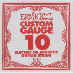Cuerda Electrica ERNIE BALL Slinky Plana 010 Foto: C:QuerryFotos Web\Cuerda Electrica ERNIE BALL Slinky Plana 010