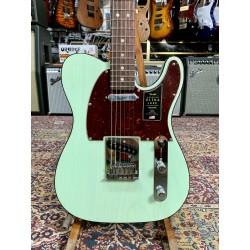 Guitarra Electrica FENDER American Ultra Luxe Telecaster Transparent Surf Green Foto: C:QuerryFotos Web\Guitarra Electrica FENDE