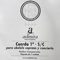 Cuerda Ukelele ADMIRA 1ª Soprano Concierto Clear Foto: C:QuerryFotos Web\Cuerda ADMIRA Ukelele 1ª Soprano Concierto Clear