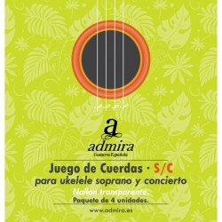 Cuerdas Ukelele ADMIRA CA500UKSC Soprano/Concierto Set Foto: C:QuerryFotos Web\Cuerdas Ukelele ADMIRA CA500UKSC Soprano-Conciert