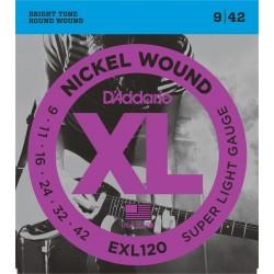 Cuerdas Electrica D'ADDARIO EXL120 - XL Super Light (09-42)