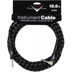 Cable FENDER Custom Shop Black Tweed Recto-Acodado 5,5m Foto: \192