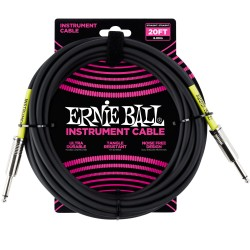 Cable ERNIE BALL Ultraflex PO6046 Jack-Jack SS Negro 6m Foto: \192