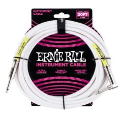 Cable ERNIE BALL Ultraflex PO6046 Jack-Jack Recto-Acodado SS Blanco 6m Foto: \192