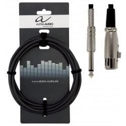 Cable ALPHA AUDIO Basic Line Jack-XLR H 9m Foto: \192