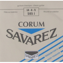 Cuerda Clasica SAVAREZ Corum New Cristal Azul 5ª 505-J Foto: \192