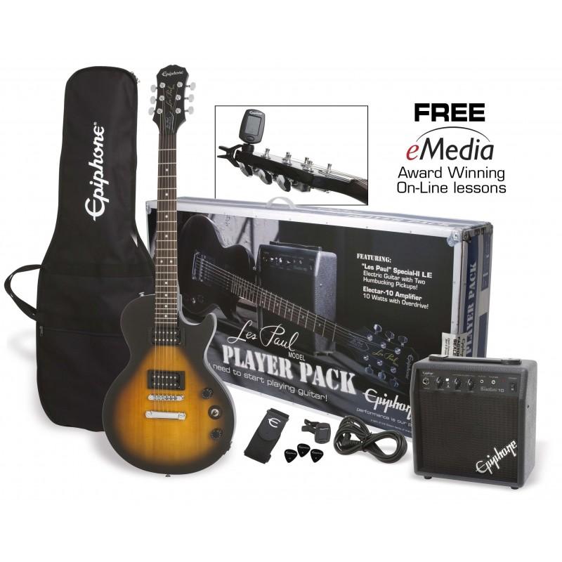 Pack de Guitarra Electrica EPIPHONE Player Pack Special II Vintage Sunburst Foto: \192