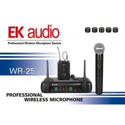 Microfono Inalambrico EK AUDIO WR-25D Mano Dual UHF Foto: \192