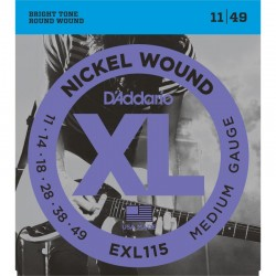 Cuerdas Electrica D´ADDARIO EXL115 - XL Medium (11-49) Foto: \192