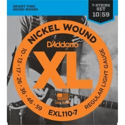 Cuerdas Electrica D´ADDARIO EXL110-7 - XL Regular Light (10-59) Foto: \192