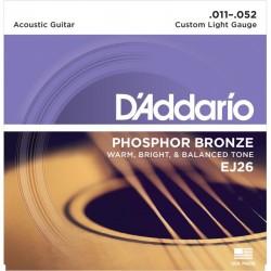 Cuerdas Acustica D´ADDARIO EJ-26 Phosphos Bronze (11-52) Foto: \192