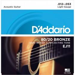 Cuerdas Acustica D´ADDARIO EJ-11 Bronze (12-53) Foto: \192